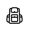 tourist travel backpack vector image vector image