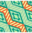 Turquoise green diagonal african geometric pattern vector image vector image