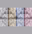 vintage damask set collection baroque patterns vector image vector image