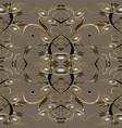 vintage paisleys seamless pattern floral vector image