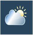 white cloud with sun vector image vector image