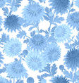 seamless texture with blue chrysanthemum for your vector image