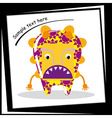 Colorful monster on white background vector image