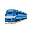 railway locomotive train or passenger car vector image