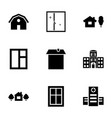 9 exterior icons vector image vector image