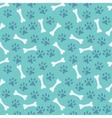 animal seamless pattern paw footprint and bone vector image vector image