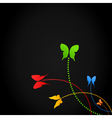 background of butterflies vector image vector image