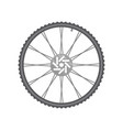 black metallic bicycle wheel vector image vector image