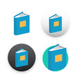 book icon on white vector image