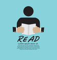 Book Reader vector image vector image