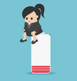 business women who suffer from work and vector image vector image