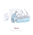car repair shop repairman service handyman vector image vector image