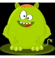 Cartoon Of Funny Green Monster Alien vector image vector image