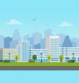 city urban landscape buildings vector image