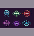 collection neon signs casino bar poker club vector image