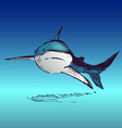 Colored hand sketch shark vector image