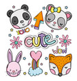 cute and lovely animals card vector image vector image
