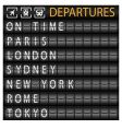 Departure board vector | Price: 1 Credit (USD $1)