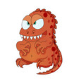 dinosaur monster cartoon character for kid happy vector image