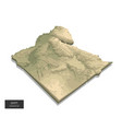 egypt map - 3d digital high-altitude topographic vector image vector image