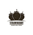 emblem of strawberries vector image vector image
