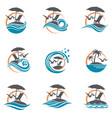 emblems set summer vacation vector image