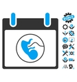 Embryo Calendar Day Icon With Bonus vector image vector image