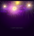 fireworks background template for new year vector image vector image