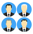 Flat style business men with four haircuts vector image vector image