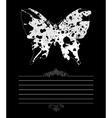 framework the butterfly vector image vector image