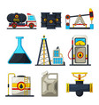 fuel and gas industry icon set of vector image