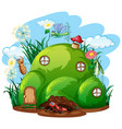 gardening theme with insects in their home vector image vector image