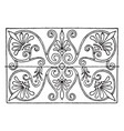 greek oblong panel is found in the painted vector image vector image