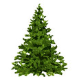 green christmas tree lowpoly triangle origami vector image