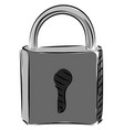 grey lockpad on white background vector image