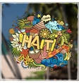 Haiti hand lettering and doodles elements emblem vector image