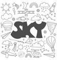 hand drawn doodle sky set vector image vector image
