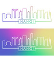 hanoi skyline colorful linear style editable vector image vector image