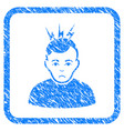 headache framed stamp vector image