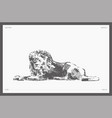 high hand drawn lion realistic sketch vector image