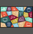 home appliances linear icon set vector image