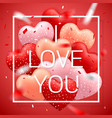 i love you happy valentines day red pink vector image vector image