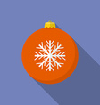 Icon of Christmas Toy Flat style vector image vector image