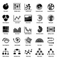 infographic chart types icons set simple style vector image vector image