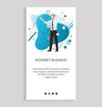 internet business online innovation man vector image