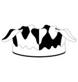 isolated harlequin hat silhouette vector image vector image
