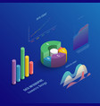 isometric 3d business infographic with color vector image