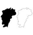 jiangxi province map vector image vector image