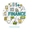 line art concept - finance concept vector image vector image