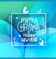 merry christmas greeting card white frame vector image